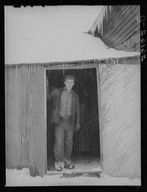 George Deacon, farmer on thirty acres of submarginal land. Oswego County, New York