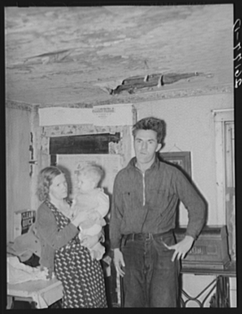 George Deacon, wife and baby. Oswego County, New York