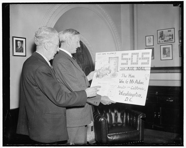Gilbert H[...] and Sen. Gibbs McAdoo, Nat. Fed. of P.O. Clerks