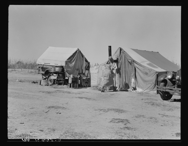 Home of a dust bowl refugee in California. Imperial County