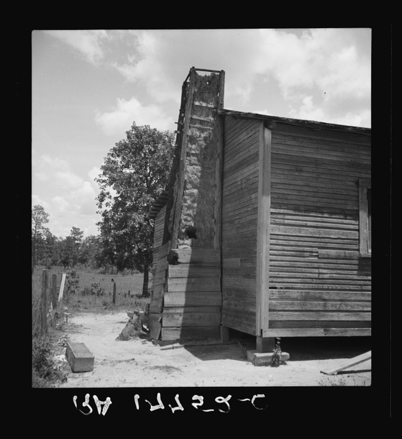 """Home of family left stranded when the mill """"cut out."""" Near Kiln, Mississippi"""