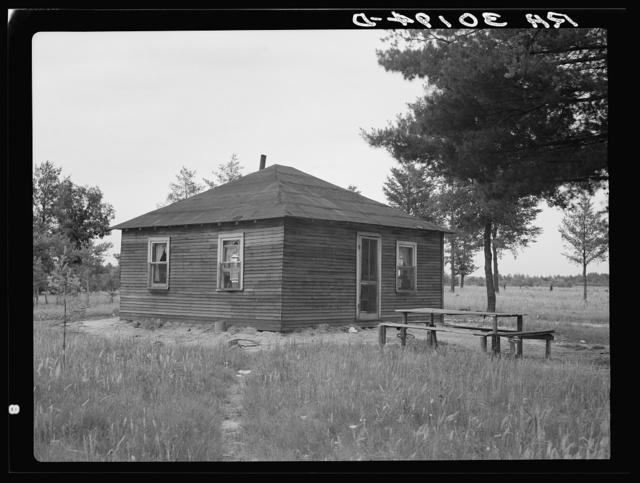 Home of John Mathews family near Black River Falls, Wisconsin