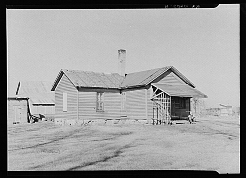 Home of Tip Estes, hired man, near Fowler, Indiana