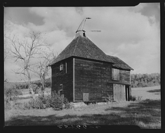 Hop-drying barn. Growing hops was once a chief source of income to the farmers of Otsego County, New York