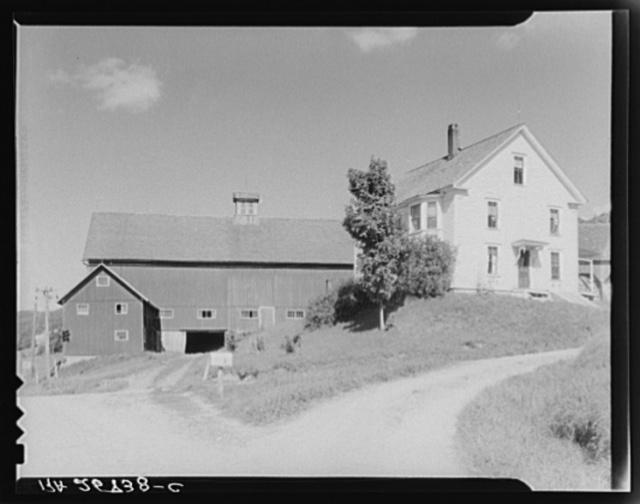 House and barn on the McNally farm. Kirby, Vermont
