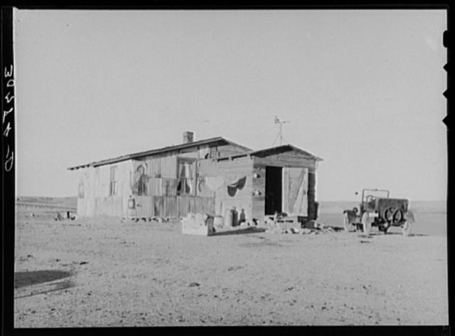 House occupied by farm laborer. Wheelock, North Dakota