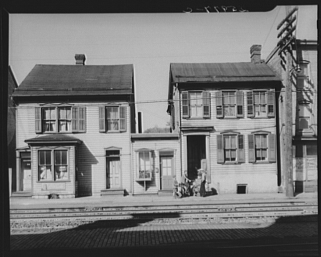 Houses near the railroad. Hagerstown, Maryland