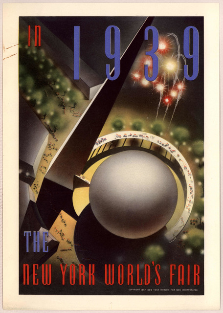 In 1939 the New York world's fair. Copyright 1937, New York world's fair, 1939 incorporated.