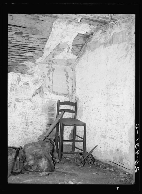 Interior of abandoned house. Land use project. Albany County, New York