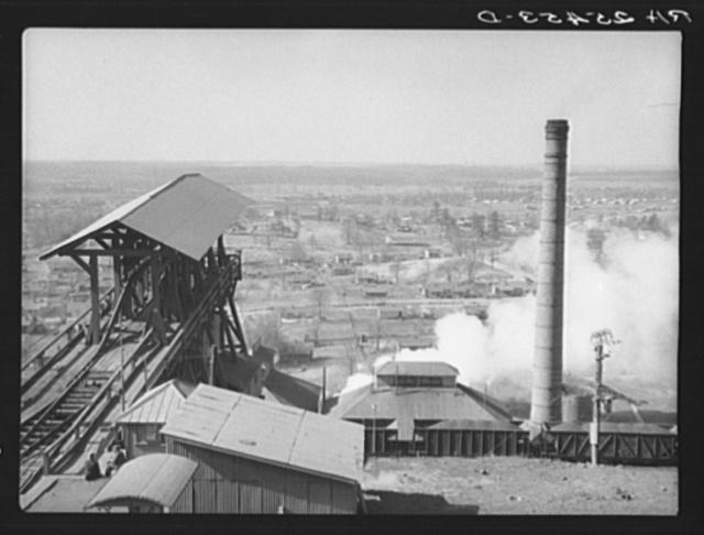 Iron ore mine and company houses. Jefferson County, Alabama