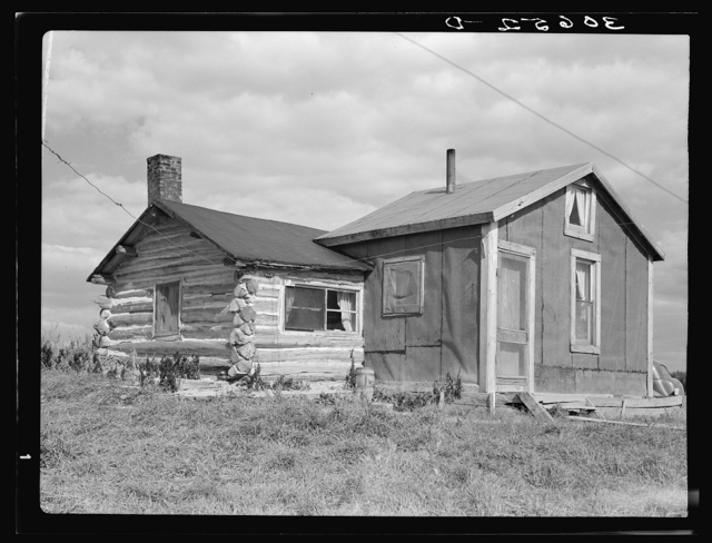 J. W. Panchot's house. The flowers were killed by frost. Near Northome, Minnesota