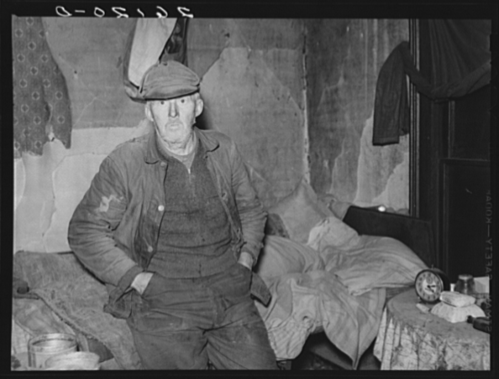 John Marsh, seventy-two year bachelor living in one room of an old house. Family dead or moved away. Belfast, New York, Allegany County