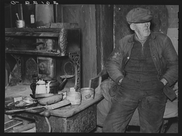 John Marsh, seventy-two year-old bachelor living in one room of an old house. Belfast, New York, Allegany County