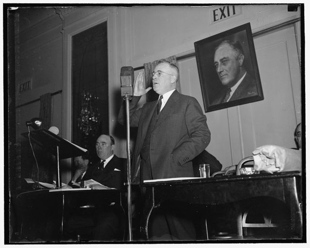 Keystone State Lieutenant Governor Washington D.C., March 8. Lieut. Gov. Tom Kennedy of Pennsylvania, was Speaker at the convention of the Labor Nonpartisan League today, 3/8/1937