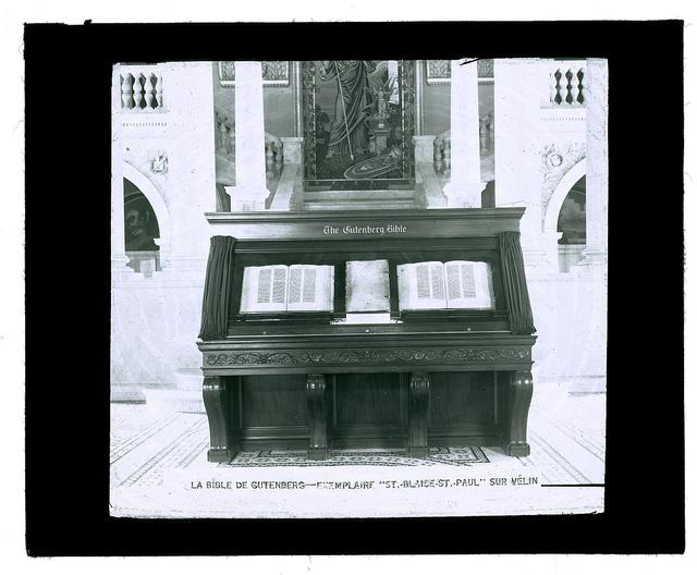 """La Bible de Gutenberg exemplaire """"St.-Blaise-St.-Paul"""" sur vélin"""