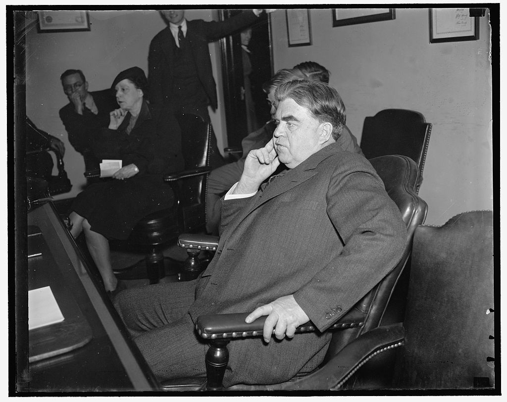 Labor chieftain. Washington D.C., March 6. John L. Lewis, President of the United Mine Workers and organizer of the CIO, snapped at his press conference in Washington yesterday, 3/6/1937