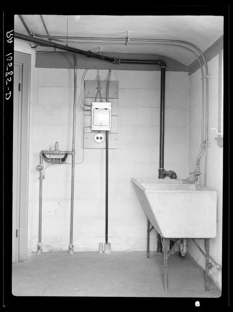 Laundry room in model house. Greendale, Wisconsin