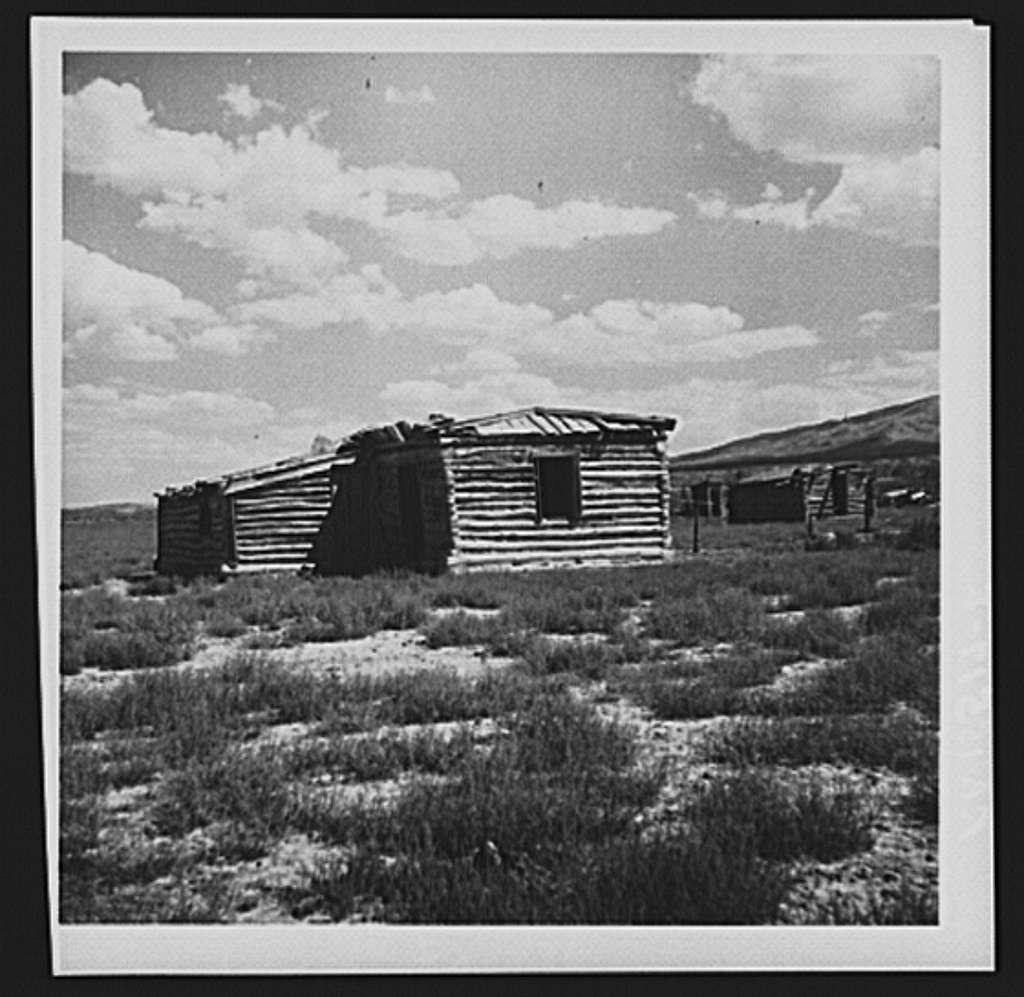 Log cabin on project area. Southwestern Idaho development