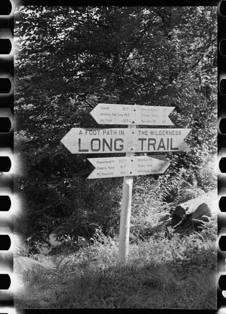 Marker on Long Trail, Eden Mills, Vermont