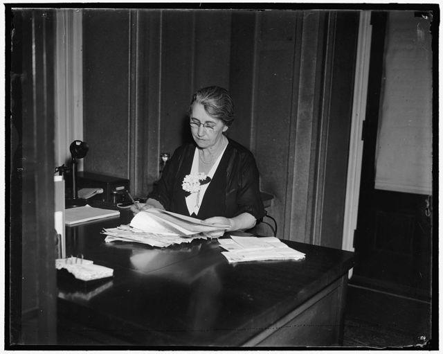 Martha McPherson, Secretary to the Secretary of War Harry Woodring