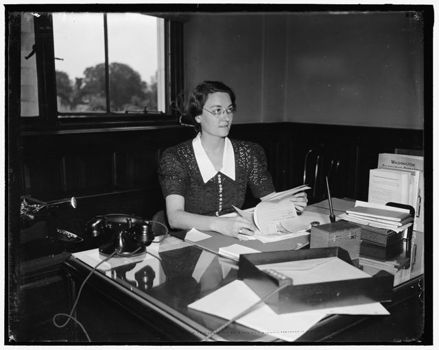 Mary Huss, Secretary to Sury[?]Wallace