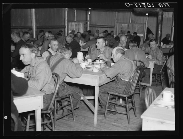 Men in transient camp near Hagerman Lake, Michigan