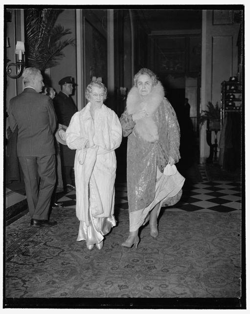 Mrs. Claude Swanson and Mrs. Woodrow Wilson