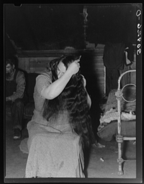 Mrs. Harshenberger, wife of Mennonite farmer. Sheridan County, Montana
