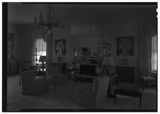 Mrs. Hugh Mercer Walker, residence at 730 Park Ave., New York City. Living room, to fireplace