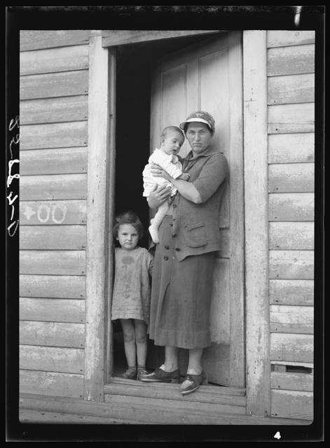 Mrs. Lorenzo Clapper and her children. Otsego County, New York