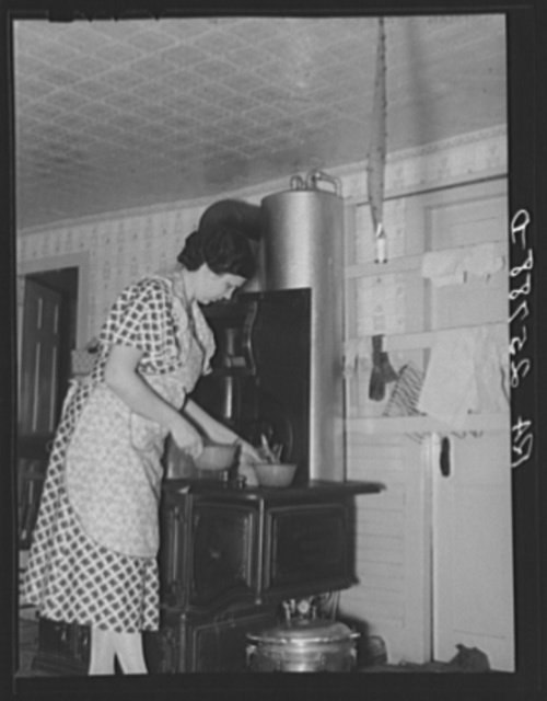 Mrs. McNally in her kitchen. Kirby, Vermont