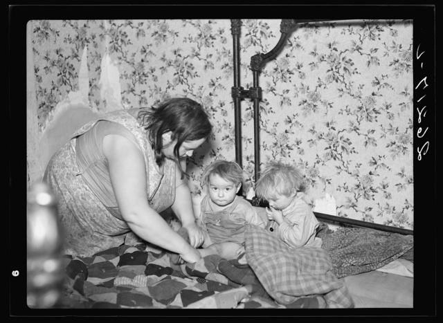 Mrs. Sampson with her children. Jefferson County, New York