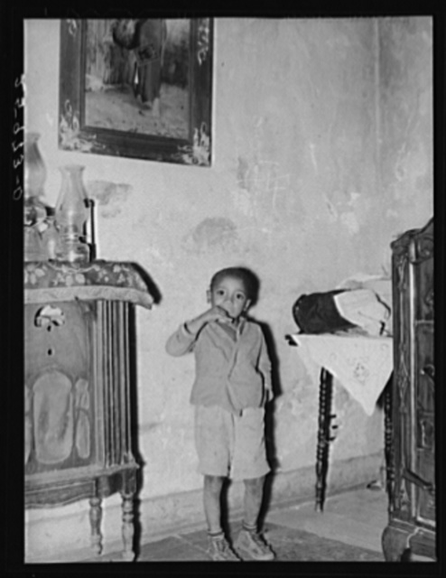Negro boy in slums of Washington, D.C.