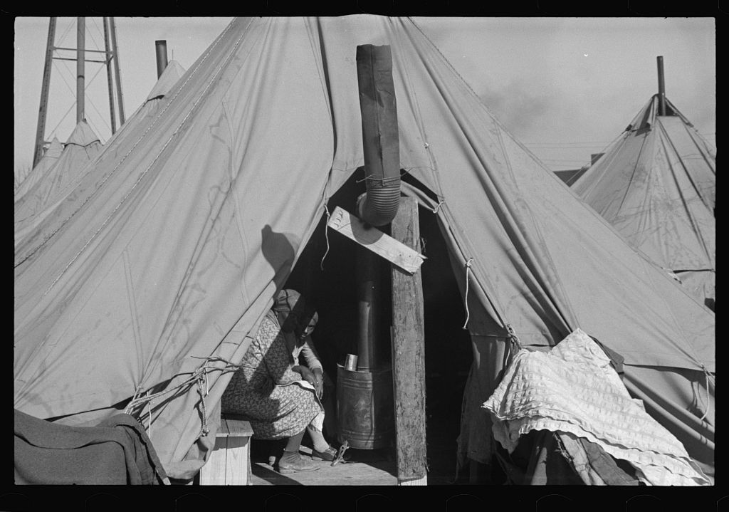 Negro refugees from the flood of 1937 in camp at Forrest City, Arkansas