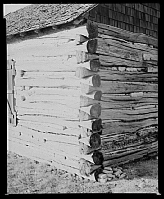 Old log church near Arnegard. McKenzie County, North Dakota