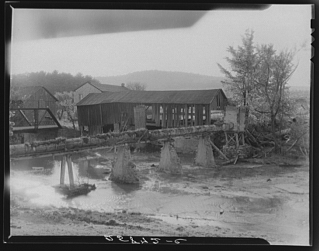 Old sawmill that was operated by water power. Otsego County, New York