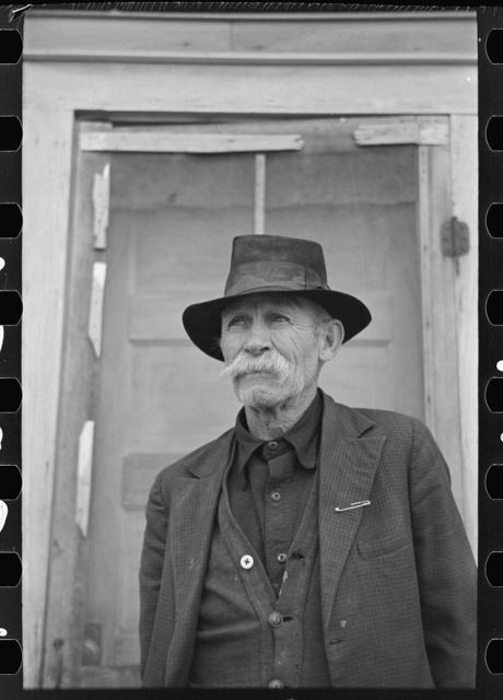 Old sheep herder, Sheridan County, Montana