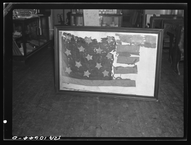 One of two Revolutionary War flags in existence. This one was carried at the Battle of Stoney Point, General Posey commanding