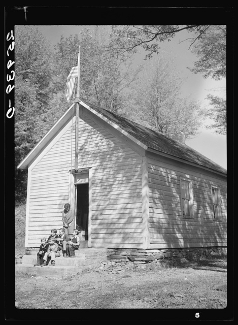 One room schoolhouse on land use project. Albany County, New York