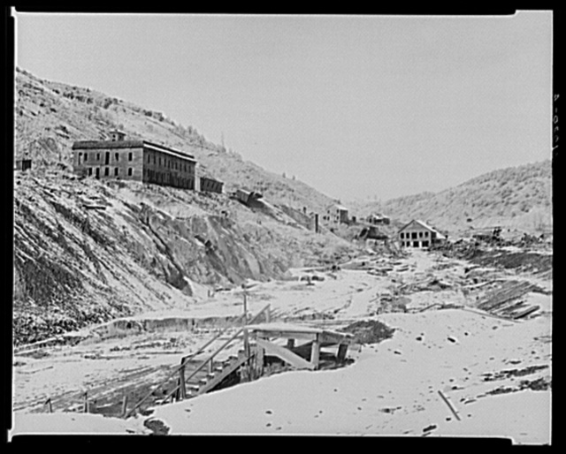 Part of Cambria, Wyoming. Ghost mining town