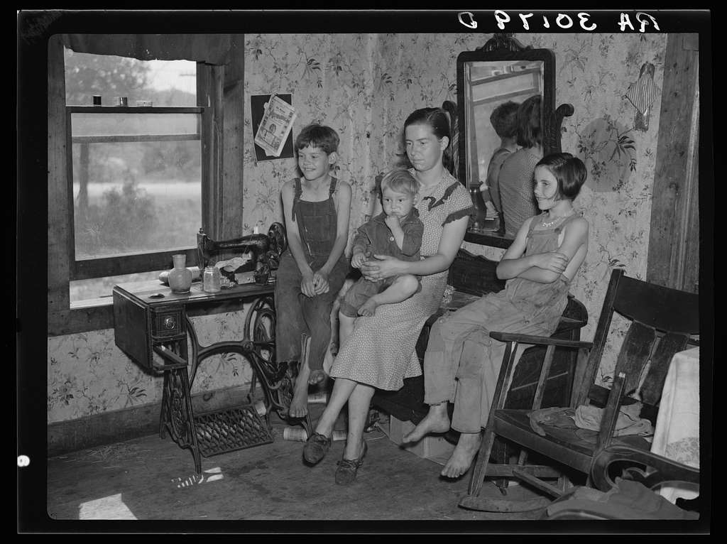 Part of Earl Taylor's family near Black River Falls, Wisconsin. Taylor is the foreman of a RA (Resettlement Administration) project crew. He does not farm his land