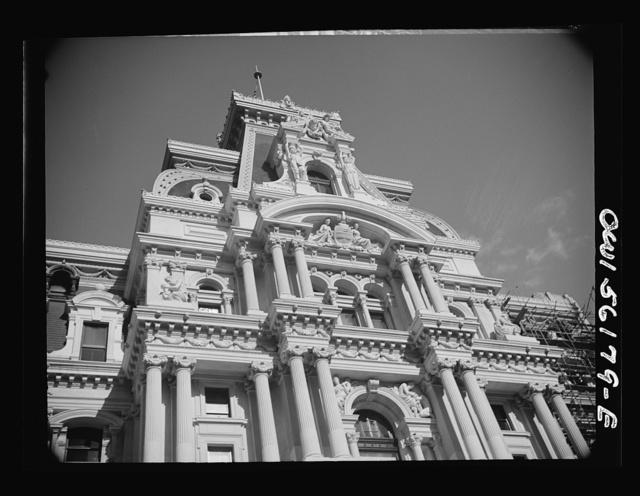 Philadelphia, Pennsylvania. Detail of city hall
