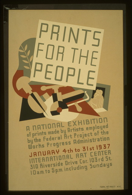 Prints for the people A national exhibition of prints made by artists employed by the Federal Art Project of the Works Progress Administration.