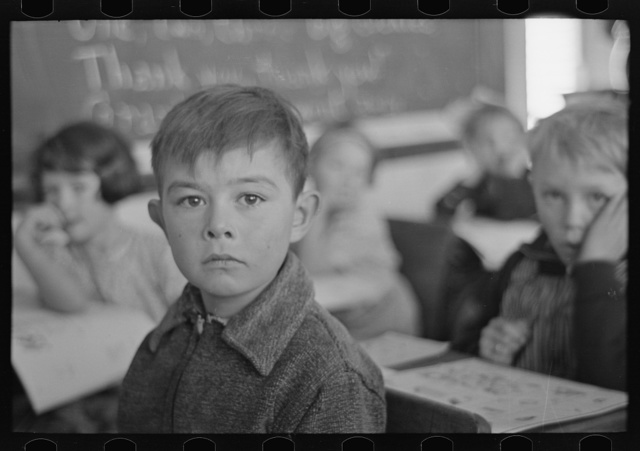 Pupil in rural school. Williams County, North Dakota