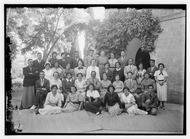 Ramallah, Quaker Mission School. Photographed in 1937