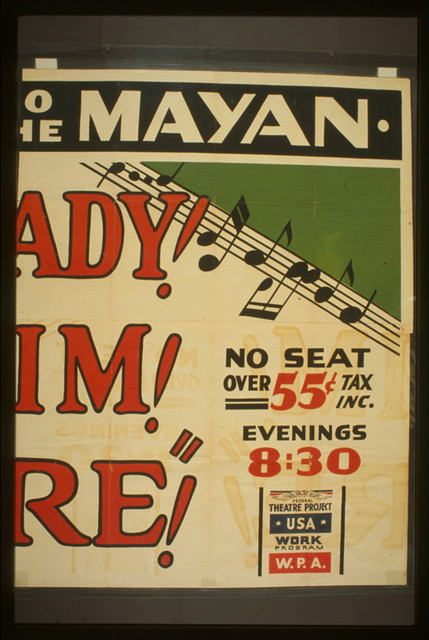 """""""Ready! Aim! Fire!"""" The merry musical hit : Moved to the Mayan."""
