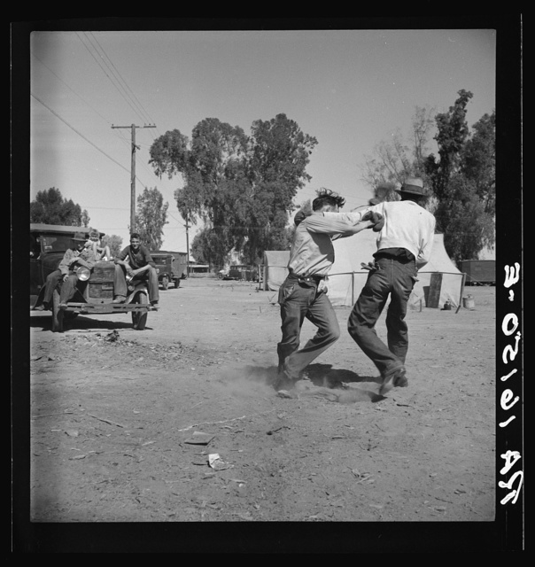 Recreation in a migratory agricultural workers' camp near Holtville, California