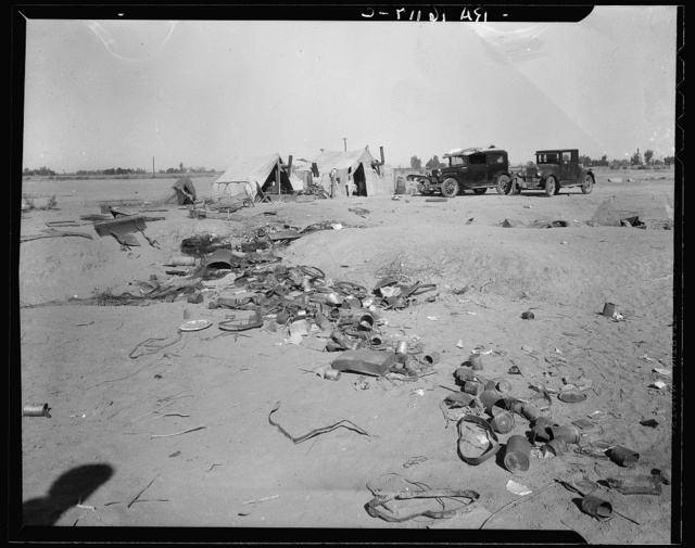 Refugee families near Holtville, California
