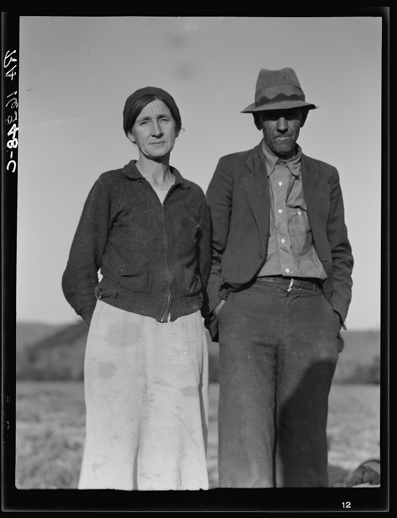 Refugees from the 1936 drought. Came to California for a new start. Now migratory agricultural workers