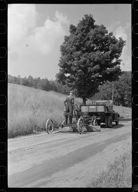 Road grader, Windsor County, Vermont